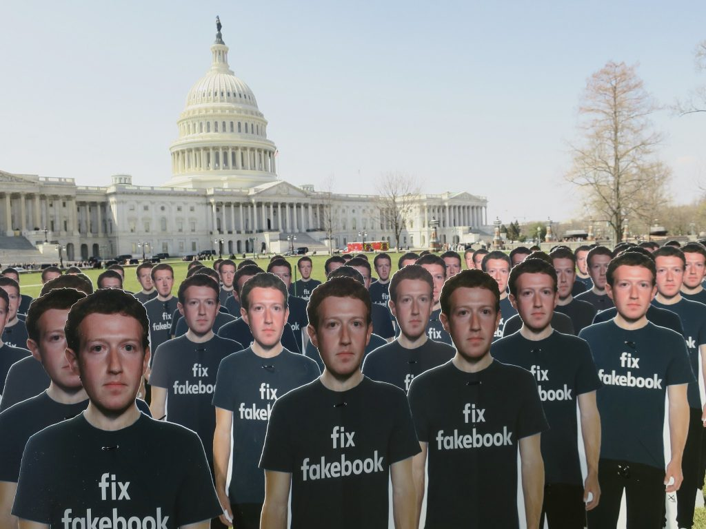 Fix Fakebook Protest Installation Capitol Hill