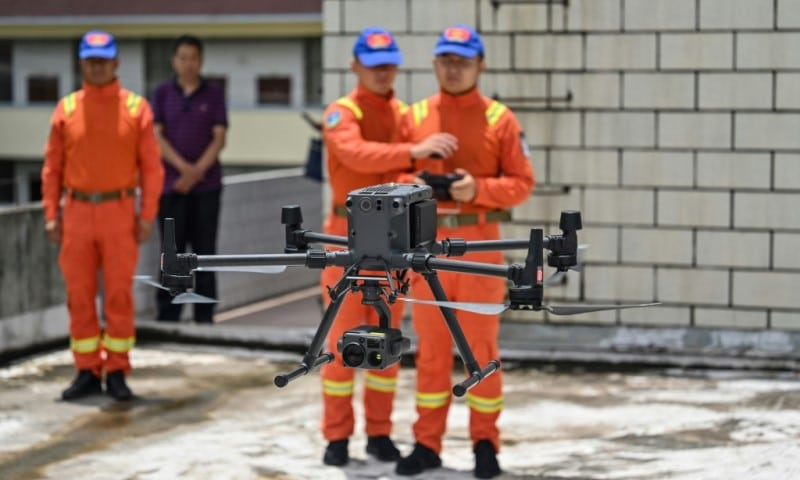 Forestry Firefighters Use Drones