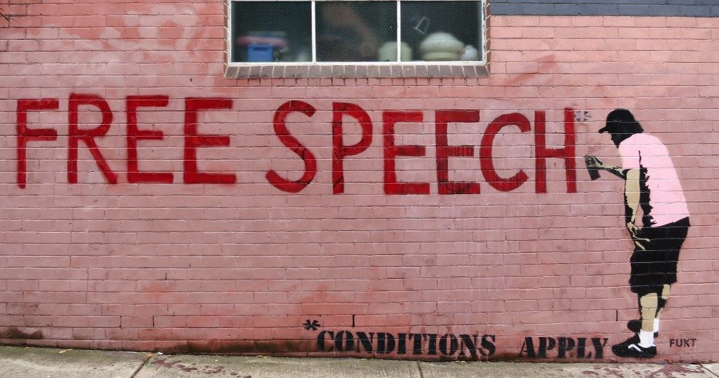 Free Speech - Conditions Apply Graffiti