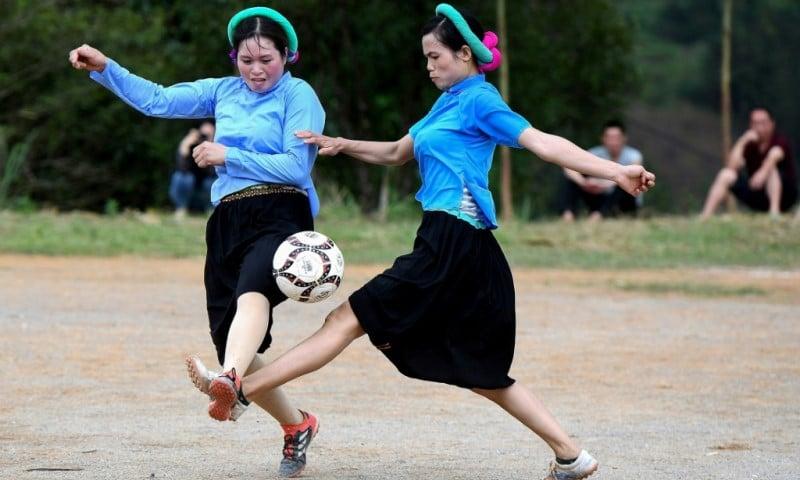 Friendly Football Match in Vietnam