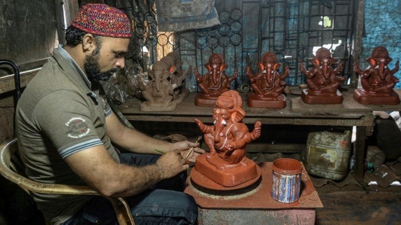 Fortune by Making Ganesha Idols