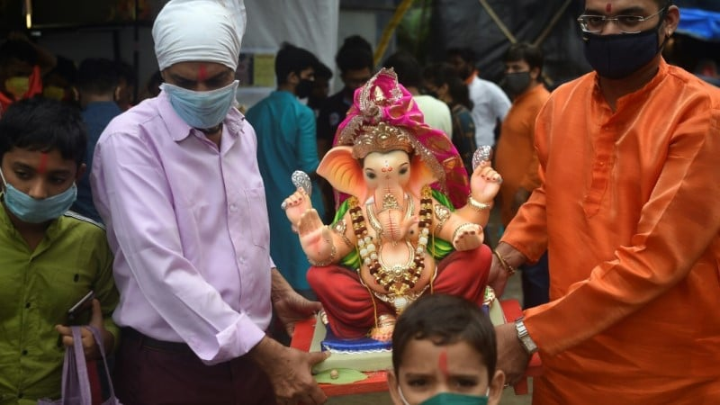 Ganesha Idols Paraded in India