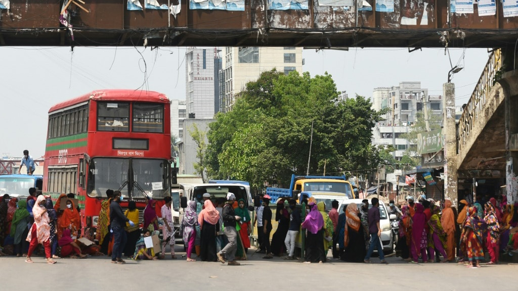 Garment Workers Protest in Bangladesh.afp