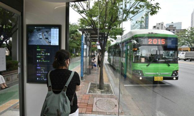 Bus Stop Newest Front in South Korea's Coronavirus Battle