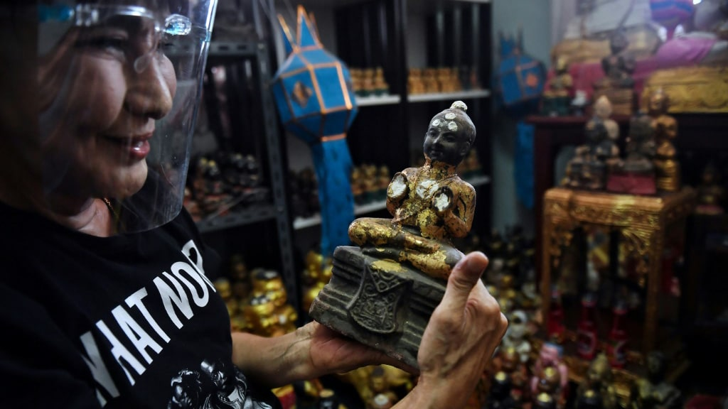 Golden Son Collector Wanchai Pongsompetch in Bangkok.afp