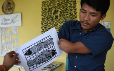 Cambodian Double Amputee Artist Fights Stigma Through Art