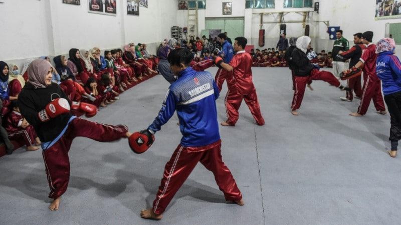 Hazara Students at Wushu Academy