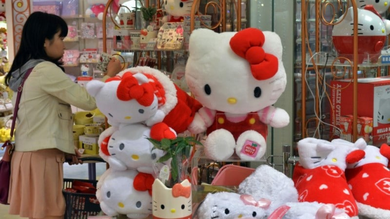 Hello Kitty Everywhere in Japan.afp