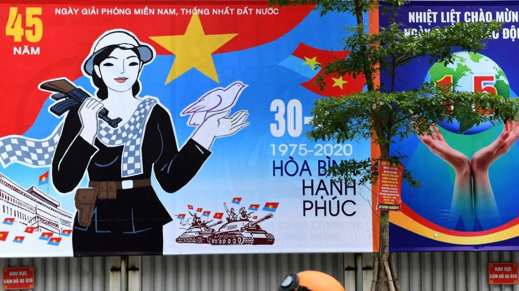 Hoarding Marking in Hanoi.afp
