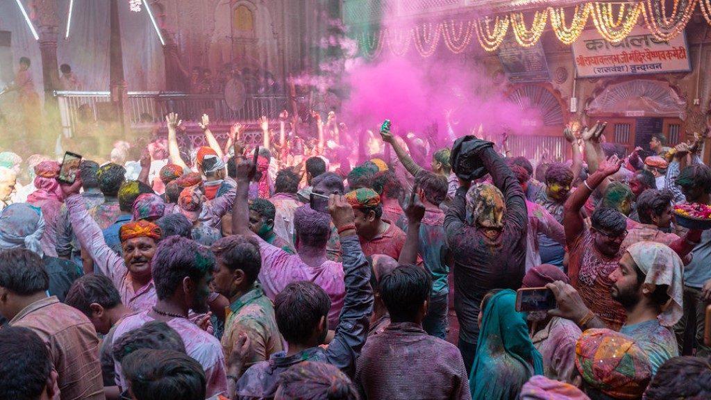 Holi Festival Crowd - India