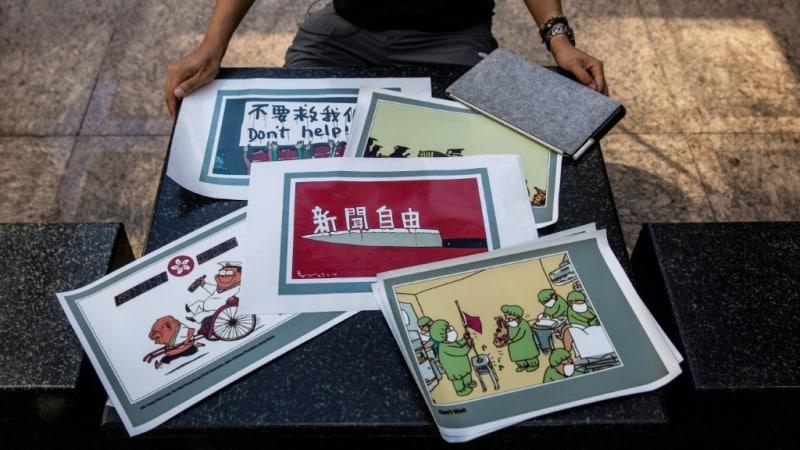 Hong Kong Cartoonist on Self-censorship.afp