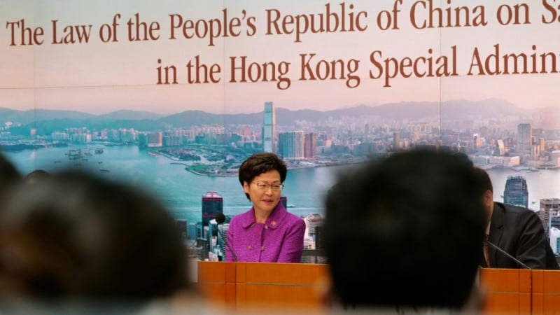 Hong Kong Leader Carrie Lam.afp