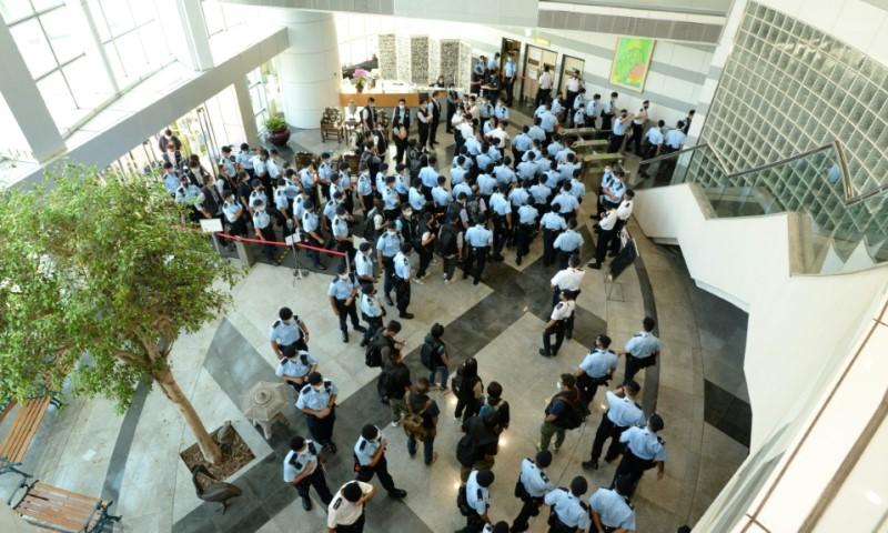 Hong Kong Police Raid of Apple Daily