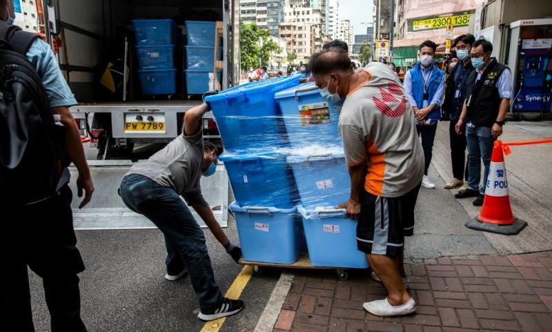 Hong Kong Police Raid