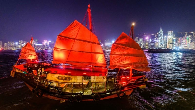 Hong Kong's Antique Junk Boat