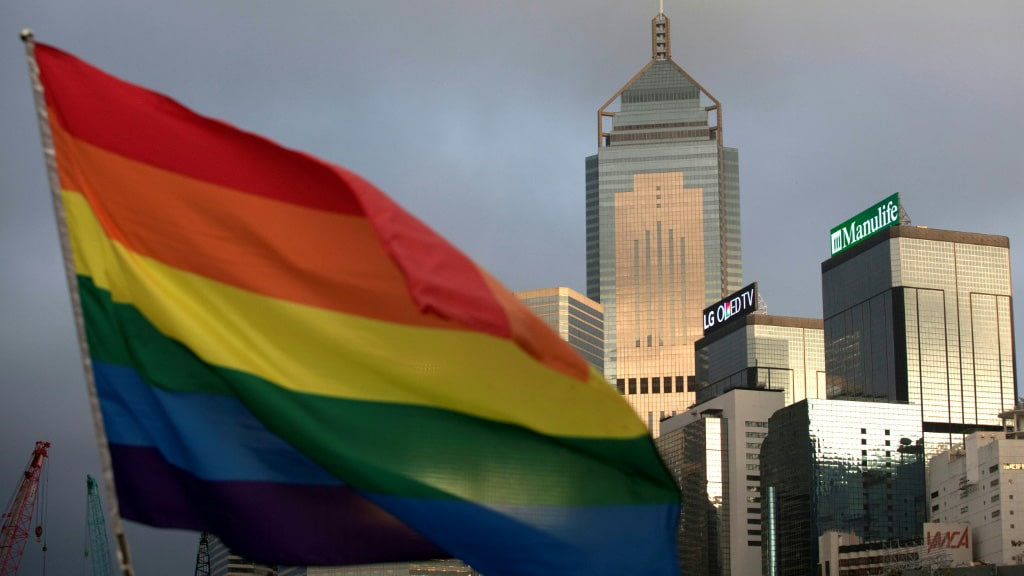 Hong Kong's LGBTQ Housing Ban China.afp