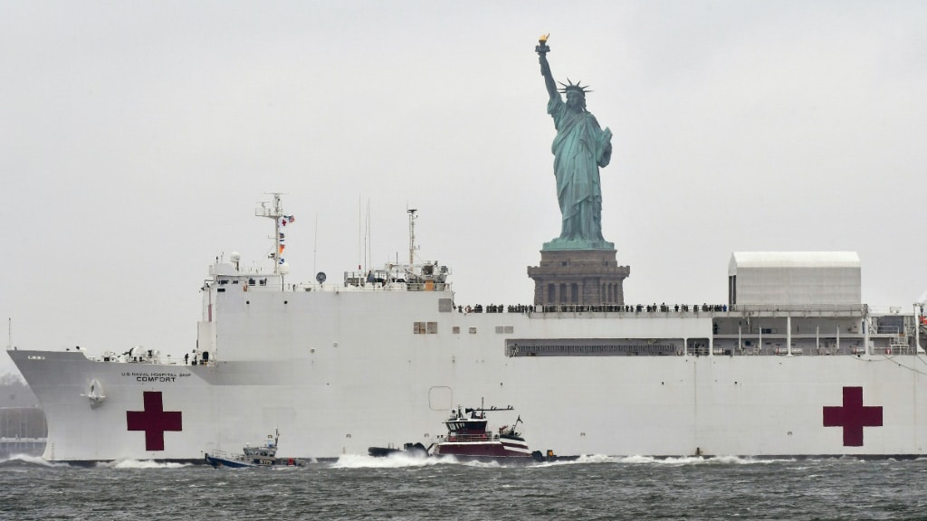 Hospital Ship in NYC.afp