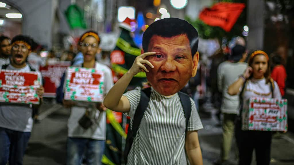 Human Rights Rally in Manila Philippines.afp