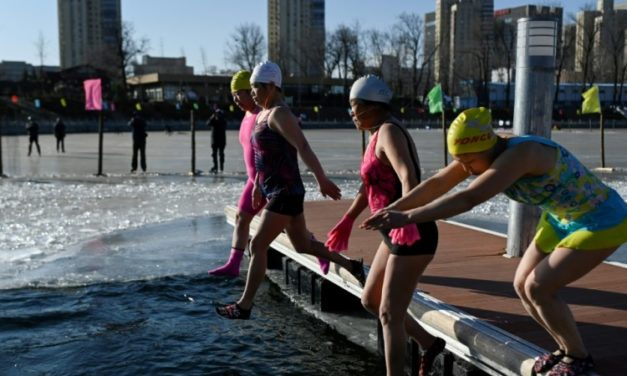 Ice, Ice, Baby: Beijing's Winter Swimmers Shrug Off Record Lows