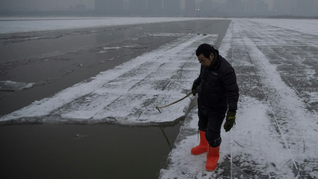 Ice Worker China.afp
