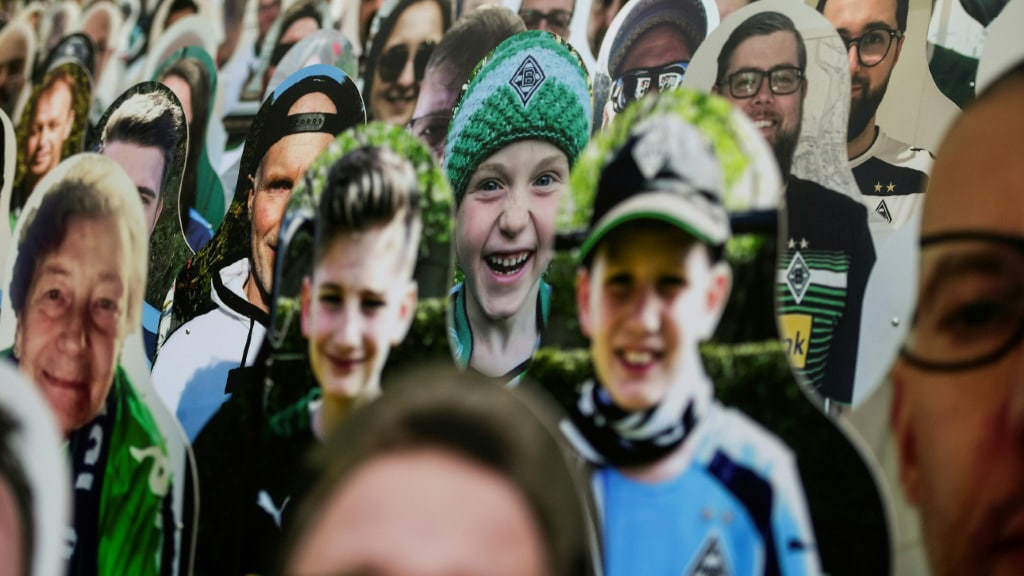 Images Of Fans at Borussia Moenchegladbach's Stadium.afp
