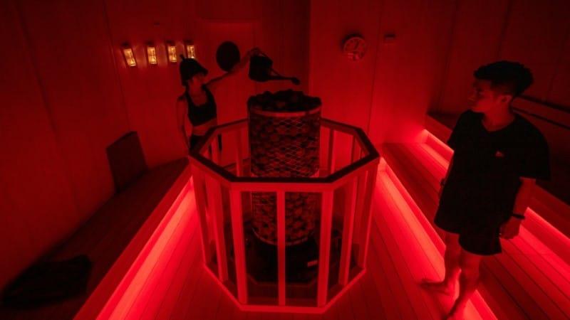 Immersive Sauna Exhibition in Japan