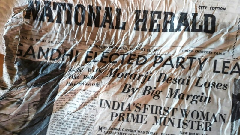 Indian Newspaper on Crashed Airplane