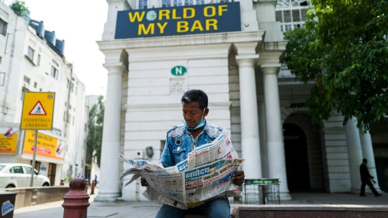Indian Newspapers Now Buckling Under the Weight of Coronavirus Losses.afp