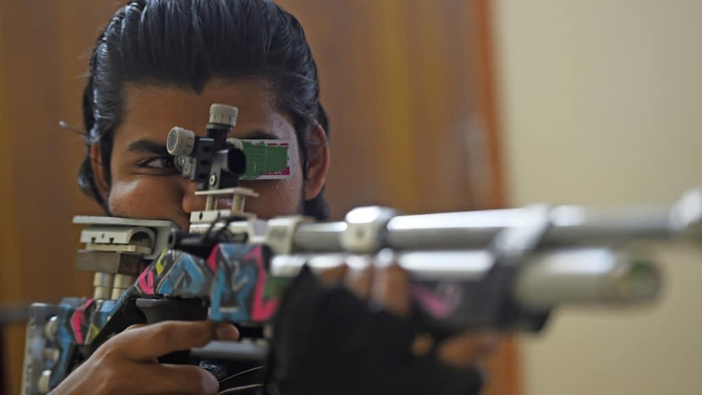 Indian Shooter Divyansh Singh Panwar.afp