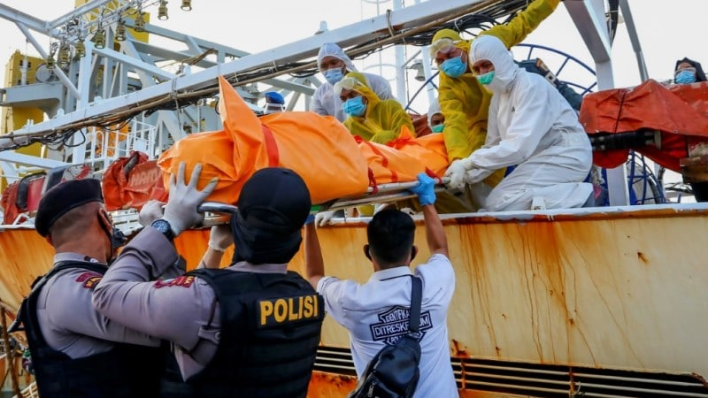 Indonesian Body Found Aboard the Chinese Vessel.afp