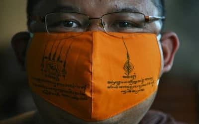 Thai Monks Make Virus Masks From Recycled Plastic