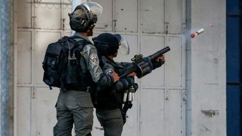 Israeli Border Guard in Hebron