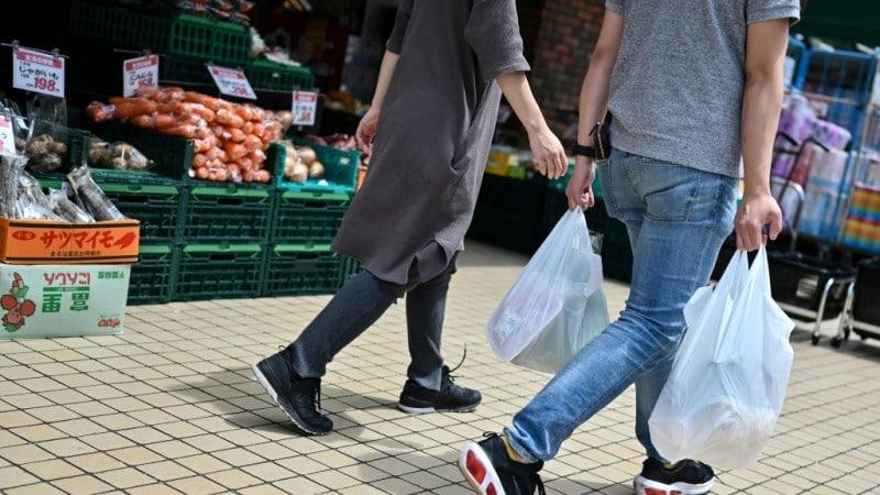 Japan Shops Began Charging for Plastic Bags.afp