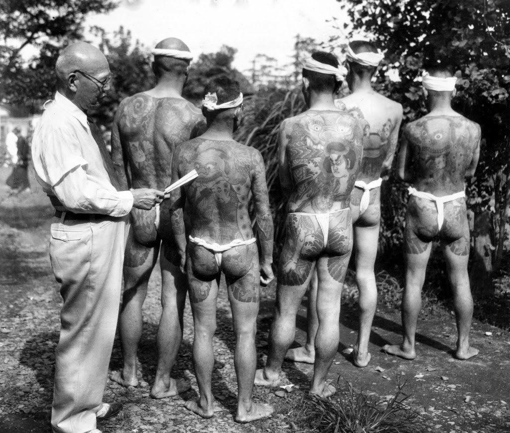 Japanese Tattoo Artist - Ginjiro Susuki circa 1940s - AP Photo