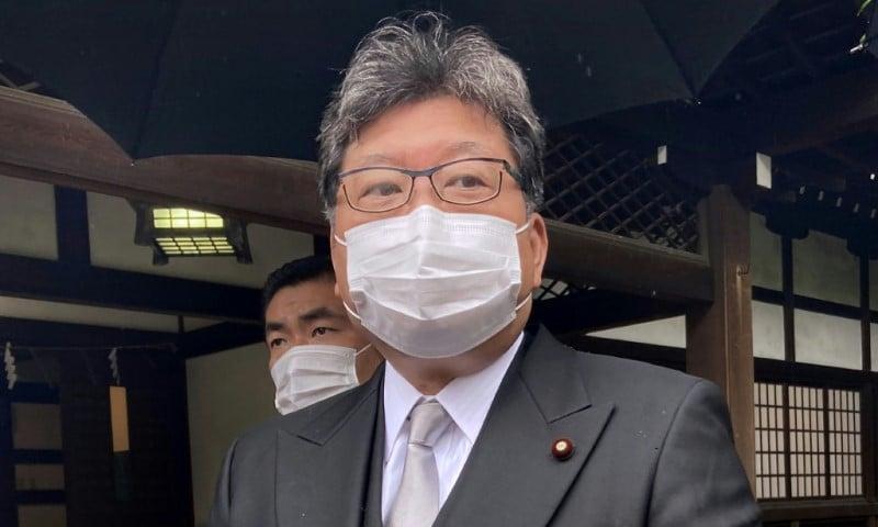 Japan's Education Minister Koichi Hagiuda