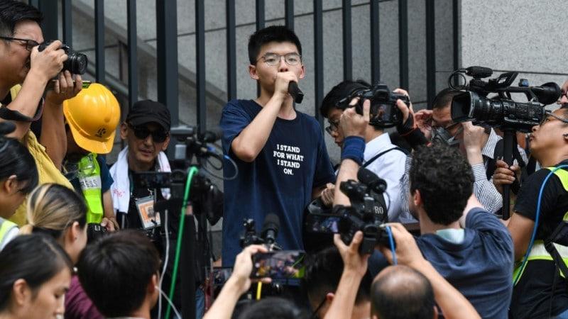 Joshua Wong in Hong Kong