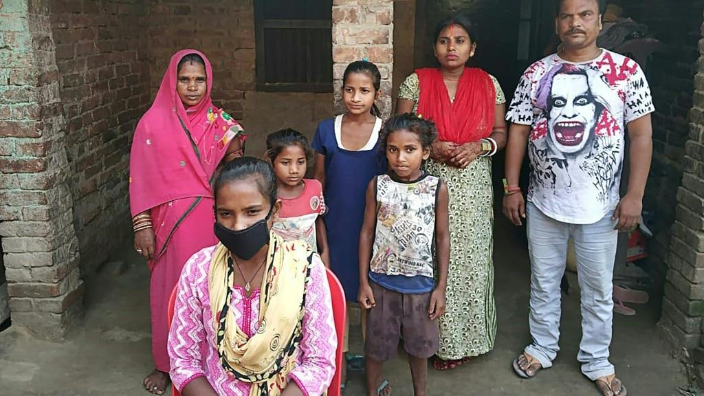Jyoti Kumari Paswan with Her Family in India.afp