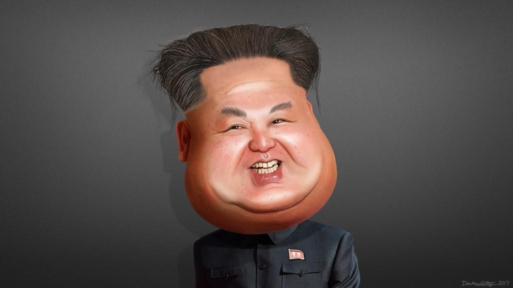 Kim Jong-un - DonkeyHotey Caricature