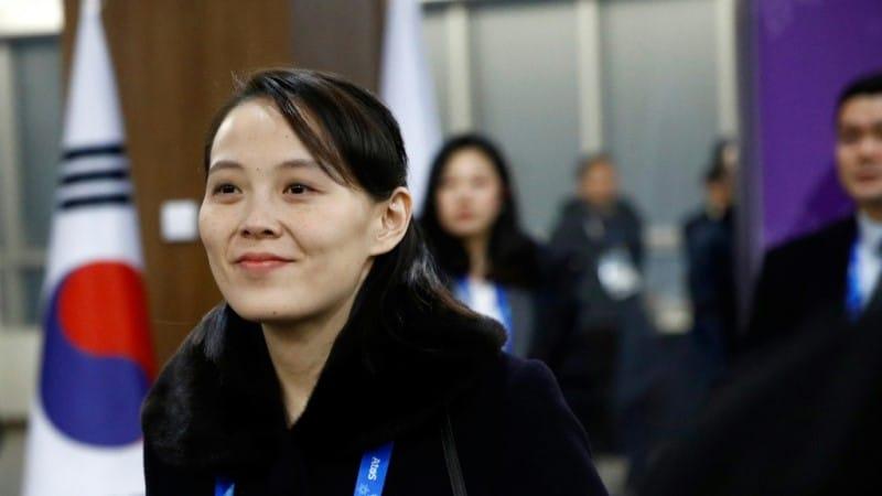 Kim Yo Jong smiling