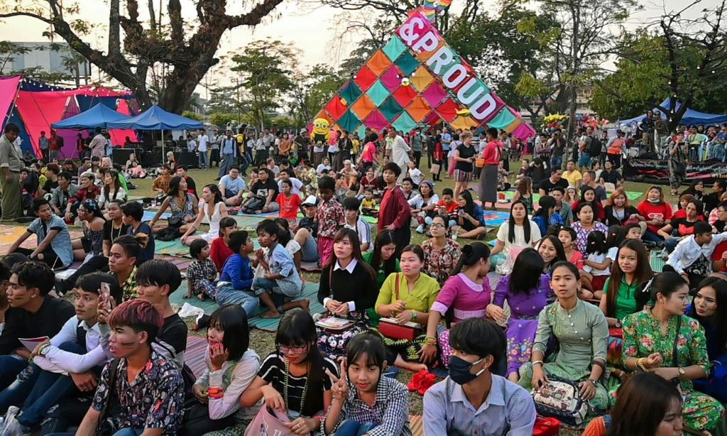 LGBT Festival Myanmar.afp