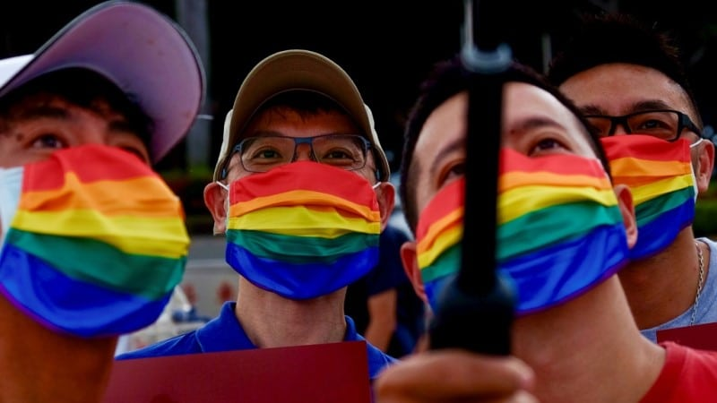 LGBTQ Community and Supporters Took to the Streets in Taiwan.afp