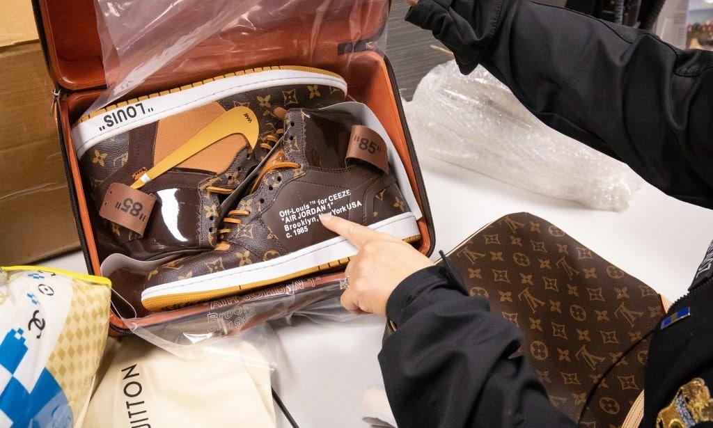 LV Nike Sneakers IPR Seizure ©U.S. Customs Border Patrol
