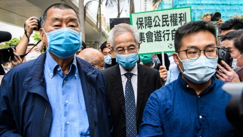 Lai is Currently Prosecuted Alongside with other Hong Kong Pro-democracy Activists.afp