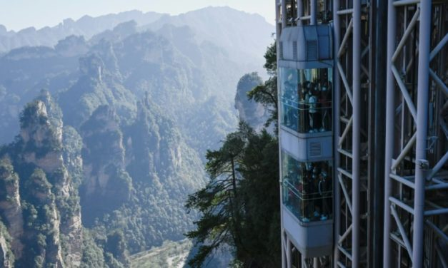 World's Highest Elevator Takes Tourists up China's 'Avatar' Cliff