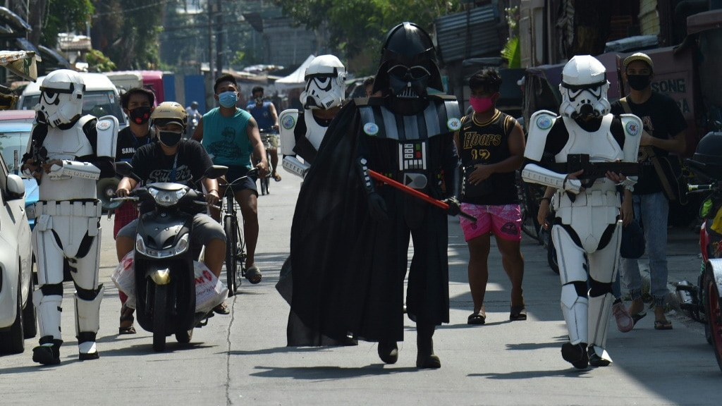 Locals happy to See Empires Storm Troopers.afp