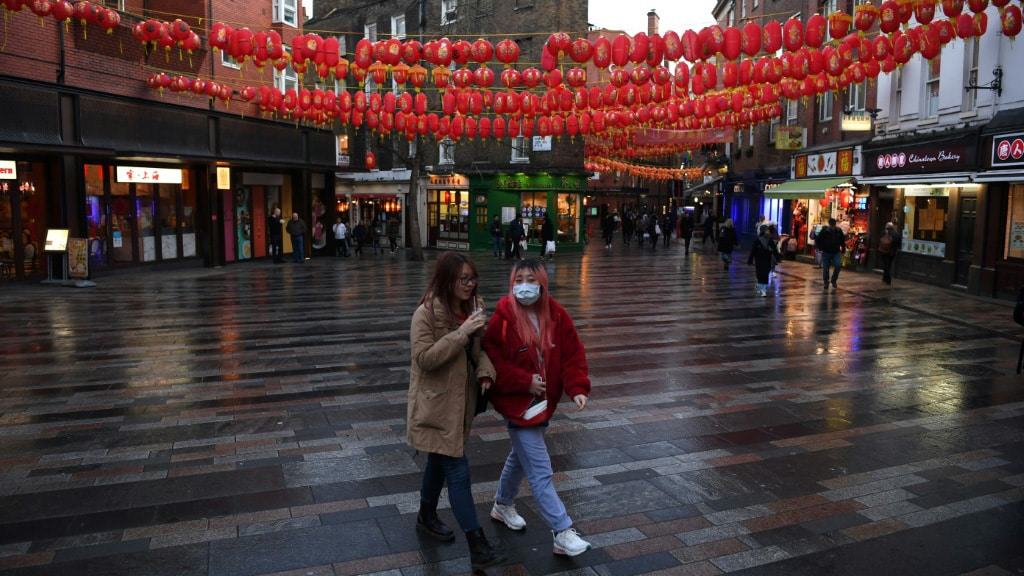 London's Chinatown District.afp