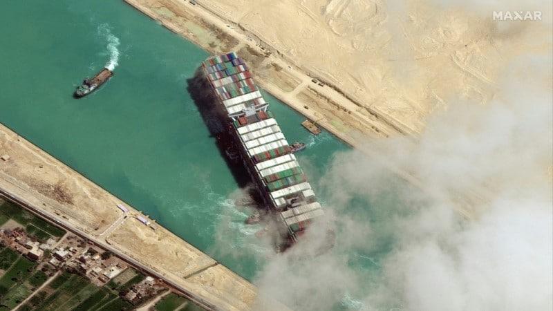 MV Ever in Suez Canal
