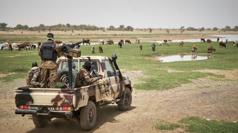 Malian Soldiers on Patrol