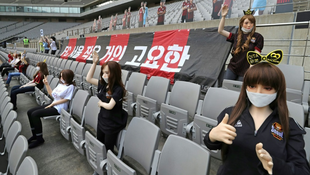 Mannequins in the FC Seoul's Game.afp