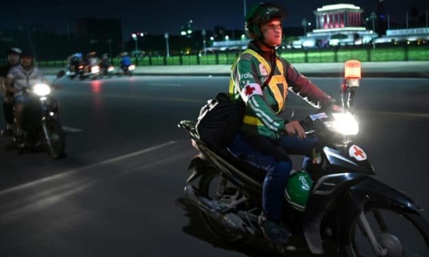 Hanoi Motorbike Taxi Drivers Turn First Responders